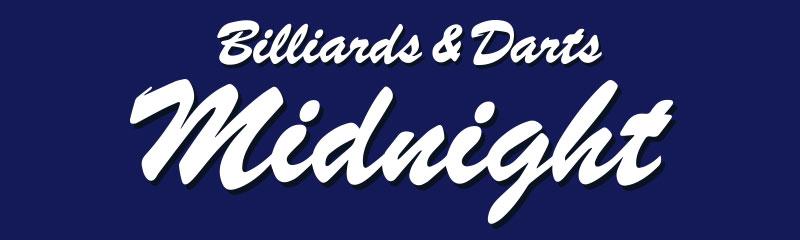 ビリヤード&ダーツ ミッドナイト ロゴ